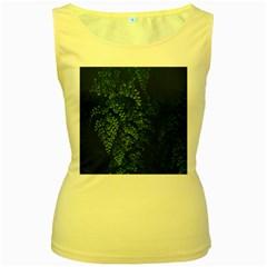 Abstract Art Background Biology Women s Yellow Tank Top