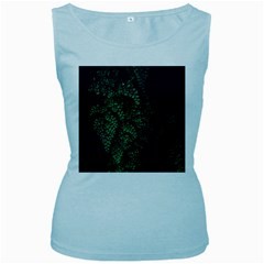 Abstract Art Background Biology Women s Baby Blue Tank Top
