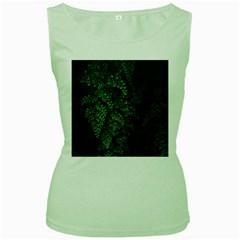 Abstract Art Background Biology Women s Green Tank Top