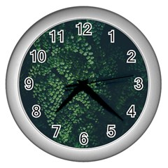 Abstract Art Background Biology Wall Clocks (silver)