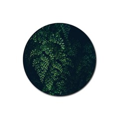 Abstract Art Background Biology Rubber Round Coaster (4 pack)