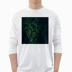 Abstract Art Background Biology White Long Sleeve T-Shirts
