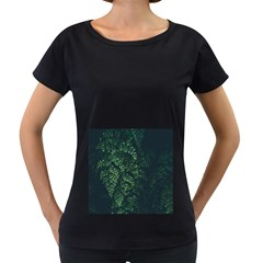 Abstract Art Background Biology Women s Loose Fit T Shirt (black)