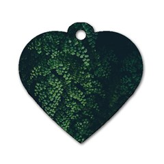 Abstract Art Background Biology Dog Tag Heart (one Side)