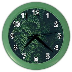 Abstract Art Background Biology Color Wall Clocks