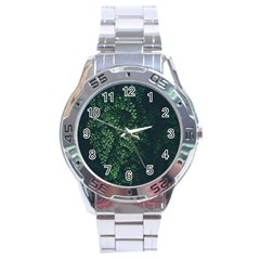 Abstract Art Background Biology Stainless Steel Analogue Watch