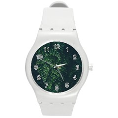 Abstract Art Background Biology Round Plastic Sport Watch (m)