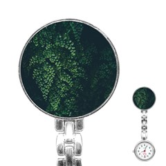 Abstract Art Background Biology Stainless Steel Nurses Watch
