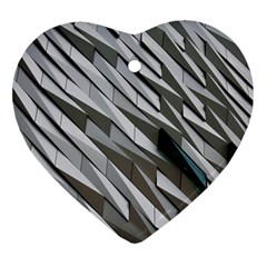 Abstract Background Geometry Block Ornament (heart)
