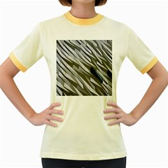 Abstract Background Geometry Block Women s Fitted Ringer T Shirts