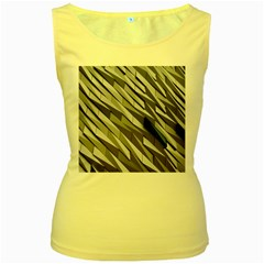 Abstract Background Geometry Block Women s Yellow Tank Top
