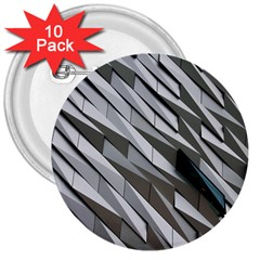 Abstract Background Geometry Block 3  Buttons (10 Pack)