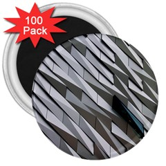 Abstract Background Geometry Block 3  Magnets (100 Pack)
