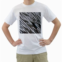 Abstract Background Geometry Block Men s T Shirt (white) (two Sided)