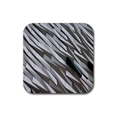 Abstract Background Geometry Block Rubber Square Coaster (4 pack)