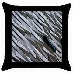 Abstract Background Geometry Block Throw Pillow Case (black)