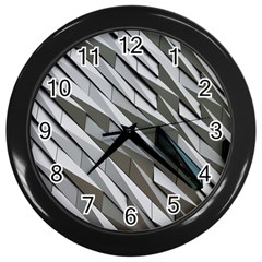 Abstract Background Geometry Block Wall Clocks (black)