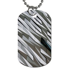 Abstract Background Geometry Block Dog Tag (one Side)