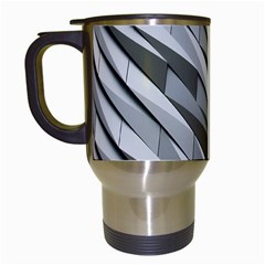 Abstract Background Geometry Block Travel Mugs (white)