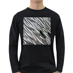 Abstract Background Geometry Block Long Sleeve Dark T Shirts