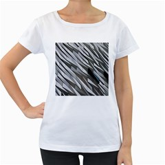 Abstract Background Geometry Block Women s Loose Fit T Shirt (white)