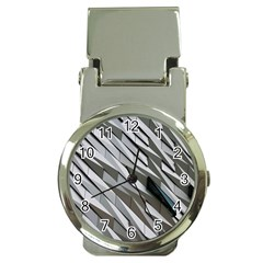 Abstract Background Geometry Block Money Clip Watches