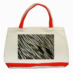Abstract Background Geometry Block Classic Tote Bag (red)