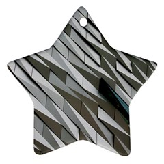 Abstract Background Geometry Block Star Ornament (two Sides)