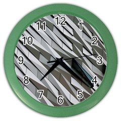 Abstract Background Geometry Block Color Wall Clocks