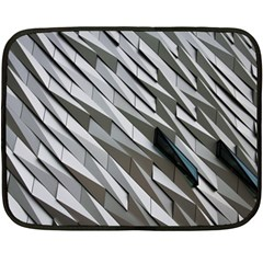 Abstract Background Geometry Block Fleece Blanket (mini)