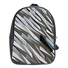 Abstract Background Geometry Block School Bags(large)