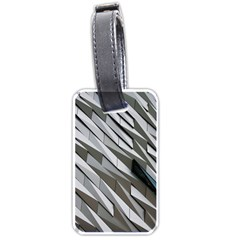 Abstract Background Geometry Block Luggage Tags (one Side)