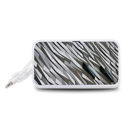 Abstract Background Geometry Block Portable Speaker (white)