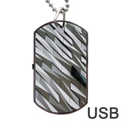 Abstract Background Geometry Block Dog Tag Usb Flash (one Side)