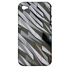 Abstract Background Geometry Block Apple Iphone 4/4s Hardshell Case (pc+silicone)