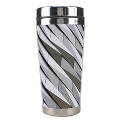 Abstract Background Geometry Block Stainless Steel Travel Tumblers