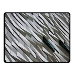 Abstract Background Geometry Block Double Sided Fleece Blanket (small)