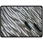 Abstract Background Geometry Block Double Sided Fleece Blanket (Large)  80 x60 Blanket Front