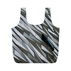 Abstract Background Geometry Block Full Print Recycle Bags (m)