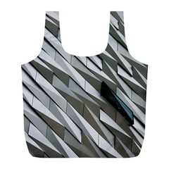 Abstract Background Geometry Block Full Print Recycle Bags (L)
