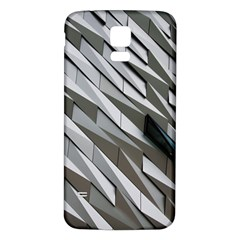 Abstract Background Geometry Block Samsung Galaxy S5 Back Case (white)