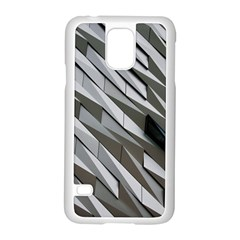 Abstract Background Geometry Block Samsung Galaxy S5 Case (white)