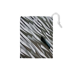 Abstract Background Geometry Block Drawstring Pouches (Small)