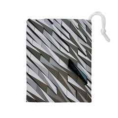 Abstract Background Geometry Block Drawstring Pouches (large)