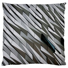 Abstract Background Geometry Block Large Flano Cushion Case (one Side)