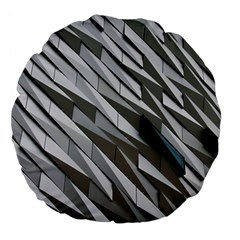 Abstract Background Geometry Block Large 18  Premium Flano Round Cushions