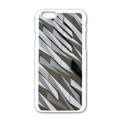 Abstract Background Geometry Block Apple Iphone 6/6s White Enamel Case