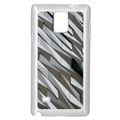 Abstract Background Geometry Block Samsung Galaxy Note 4 Case (white)