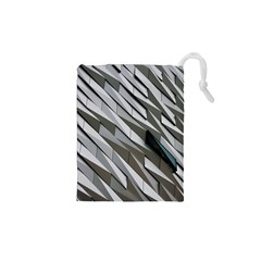 Abstract Background Geometry Block Drawstring Pouches (xs)