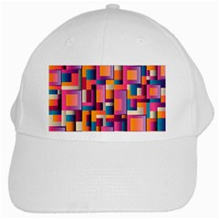 Abstract Background Geometry Blocks White Cap